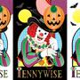 ◆ベクターイラスト(配色まで)+素材塗り加工(質感)◆「Unhappy Halloween!」By:ペニーワイズ(IT/イット)※二次創作
