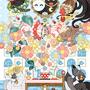 ◆ベクターイラスト(配色まで)+素材塗り加工(質感)◆「SWIMMINGOOD!!!」