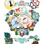 ◆ベクターイラスト(配色まで)+素材塗り加工(質感)◆猫と鳥の結婚式カップル/CAT AND BIRD WEDDING COUPLE
