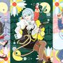 ◆ベクターイラスト(配色まで)+素材塗り加工(質感)◆サユリさんと真宵ちゃん冥ちゃんオバチャン(逆転裁判)※二次創作