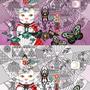 ◆ベクターイラスト(配色まで)+素材塗り加工(質感)◆蜘蛛の巣アーティスト(Spider's web artist)