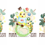 ◆ベクターイラスト(配色まで)+素材塗り加工(質感)◆妖精なっしー&いもむっしー(ふなっしー&ふなごろー?)※二次創作