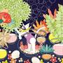 ◆ベクターイラスト(配色まで)+素材塗り加工(質感)◆金魚じゃらし/Setaria and goldfish