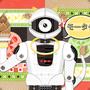◆ベクターイラスト(配色まで)+素材塗り加工(質感)◆NHK Eテレの「モーガン・フリーマン 時空を超えて」に出てきたロボット(オリジナル要素多め)※二次創作