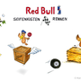 Storyboard Red Bull / Seifenkistenrennen    Technik: Marker, Buntstift & Fineliner