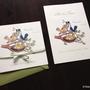 """""""Vogelhochzeit"""", Illustration & Design für Hochzeitseinladung    Technik: Buntstift & Fineliner"""