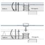 Rūpnieciski ražotiem filigrāna balkoniem