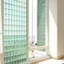 Seves Vistabrik Clear 881,5 Stippled 883 683 486 483 Solid Glass block Glass Brick Vollglasziegel Glasstein стъклена тухла Ελλάδα γυάλινο τούβλο Glassteine Glasziegel Ziegel aus Glas Vollglasklinker Farbe colour color Glaswand glass wall Glasklinkerwand G