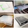 Progettazione di un involucro personalizzato per un album fotografico. Materiale: Plexiglass trasparente da 8mm. Tecnologia: taglio laser. Design by Flash Up in collaborazione con Andrea Nunzio Photographer