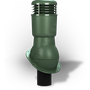 Kominek wentylacyjny izolowany na gont bitumiczny i blachy płaskie ∅110 zielony 6020