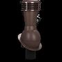Kominek wentylacyjny nieizolowany na gont bitumiczny i blachy płaskie ∅110 brązowy 8017
