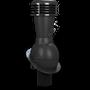 Kominek wentylacyjny nieizolowany na gont bitumiczny i blachy płaskie ∅110 czarny 9005