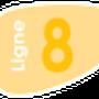 Indice de la ligne 8 à compter du 1 Septembre 2013.