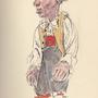 Skapino, der stumme Diener, Zeichnung von Faustina Iselin