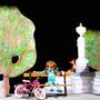 Bühnenbild mit Pisonibrunnen von Vera Kniss