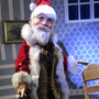 Der Weihnachtsmann kommt auch auf Besuch.