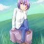 """<div class=""""lef"""">よその子だーれだ個別イラスト<br><a href=""""https://twitter.com/siruku_u"""" target=""""_blank"""">りんさん</a>の柊さんです。<br>オッドアイ好きです!座り姿勢を描いたので、草原に座ってもらいました。</div>"""