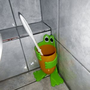 Humor aus China oder Kindergartenmitbringsel? Aber die Bürste war sauber.