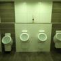 Ebenso die Urinale.