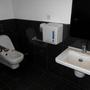 Auch eine behindertengerechte Toilette gab es.