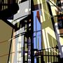 ohne Titel   2010  -   Acrylfarbe auf LW  -  2x 0,4m x 1,6m