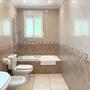 Bathroom 2 - upper floor - with bathtub & toilet