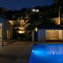 Romantisches Ambiente auf der Terrase in den Abendstunden