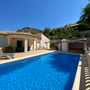 The centerpiece of the Villa Playa Moraig with large swimming pool