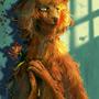 「Roux-ga-roux」枯れかけの花を 胸に抱き ひたと見据える 光の彼方を