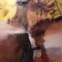 Der Feuerkrieger, 50 x 100 cm € 450,00