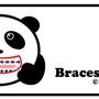 """矯正しているパンダ""""Braces Panda"""""""
