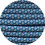 Paracord caribbean blue / silver Diamond