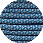 Paracord caribbean blue / silver Diamond