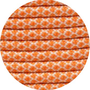 Paracord crem international / orange Diamond
