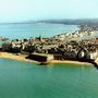 Une vue aérienne de la vieille ville de Saint-Malo