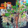 La femme arbre. Acrylique sur toile. 100 X 100 cm