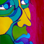 Peinture sur mur. 50 X 80 cm