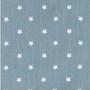 Staubblau Sterne; 80% Baumwolle, 20% Polyester