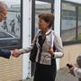 Schulamtsdirektor Manfred Klebe, Ministerin Lucia Puttrich, Schulleiterin Jutta Tschakert