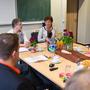Religionslehrer Otto Lomb, Schulleiterin Jutta Tschakert, Ministerin Lucia Puttrich, Schulamtsdirektor Manfred Klebe