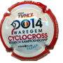 Marque : VEZIEN Marcel N° Lambert : 21 Couleur : Polychrome Description : Championnat de Belgique de cyclocross 2014 - Nom de la marque   Emplacement :