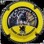 Marque : ROUYER Philippe N° Lambert : 110b Couleur : Jaune, noir et blanc, contour noir Description : Portrait de Roger De Vlaeminck vainqueur Tour des Flandres 1977  - nom de la marque sur le contour  Emplacement :