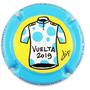 Marque : ROUYER Philippe N° Lambert : 95a Couleur : Polychrome,  Description : Maillot à pois bleus Vuelta 2019  - nom de la marque sur le contour  Emplacement :