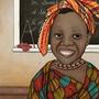 """Kalenderillustration """"Lesen lernen in Mali"""" Kinderhilfswerk Dritte Welt e.V., 2014"""