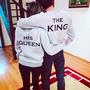 парные толстовки король и королева