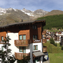balcon met panorama uitzicht naar westen, appartement 2,  Ferienhaus-Apartment Golf Saas-Fee