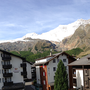 panorama view south-facing balcony, Ferienhaus-Apartment Golf Saas-Fee