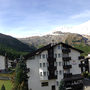 panorama view south-facing balcony Ferienhaus-Apartment Golf Saas-Fee