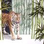 Tiger, 2017, 50x66 (49x62), Farbstift + Aquarell / Aquarellpapier