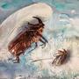 Zwei Käfer (Nashornkäfer und Junikäfer), 2019, 0 (49x64), Farbstift + Aquarell / Aquarellpapier